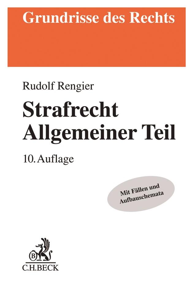 Strafrecht Allgemeiner Teil: Strafrecht AT | Rengier | 10., neu bearbeitete Auflage, 2018 | Buch (Cover)