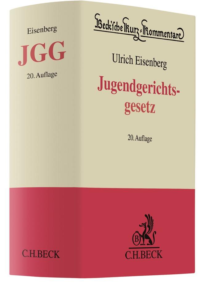 Jugendgerichtsgesetz: JGG | Eisenberg | 20. Auflage, 2018 | Buch (Cover)