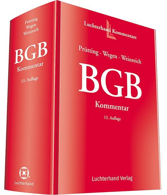 BGB | Prütting / Wegen / Weinreich | 13. Auflage, 2018 | Buch (Cover)