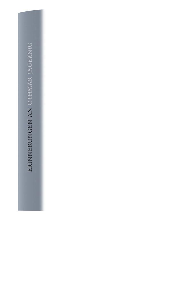 Erinnerungen an Othmar Jauernig, 2018 | Buch (Cover)