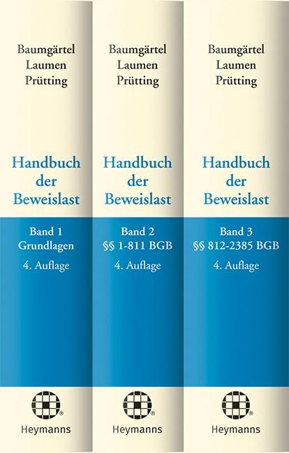 Abbildung von Baumgärtel / Laumen / Prütting (Hrsg.)   Handbuch der Beweislast   4. Auflage   2018