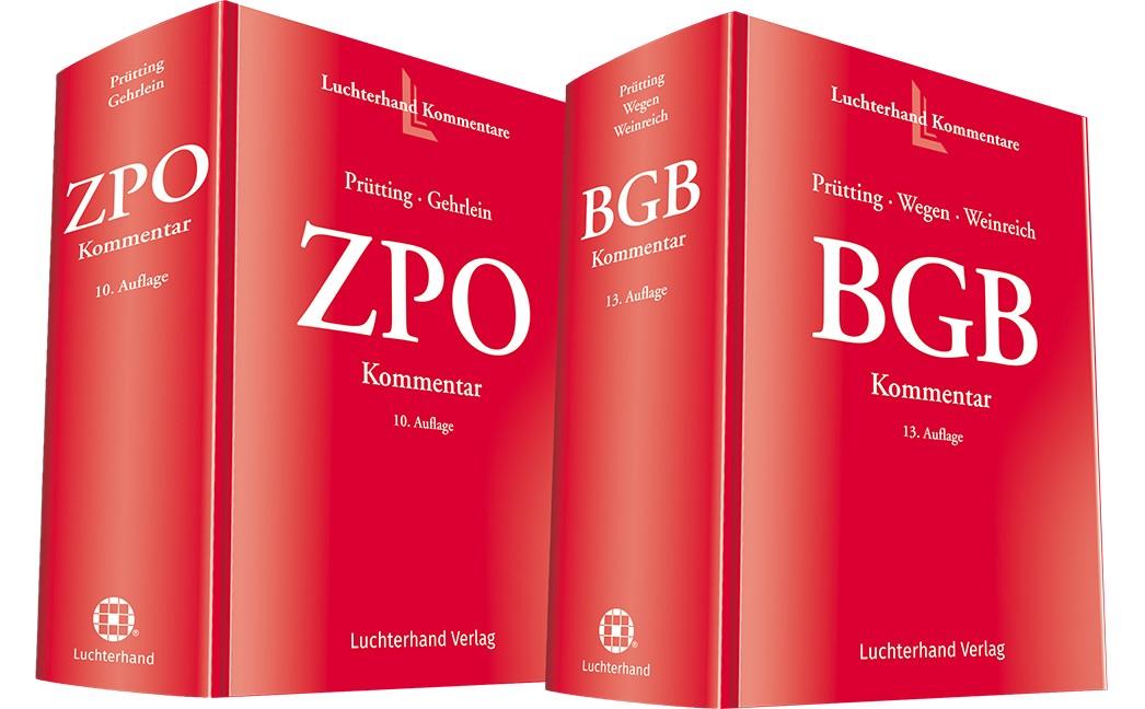 BGB Kommentar, 13. Auflage und ZPO Kommentar, 10. Auflage • Set | Prütting / Wegen / Weinreich / Gehrlein (Hrsg.), 2018 | Buch (Cover)