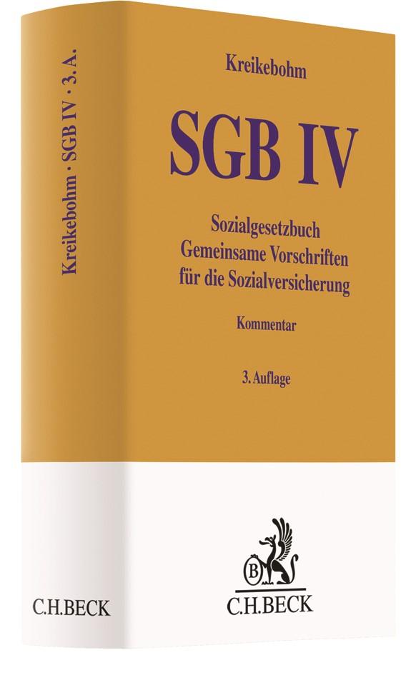 SGB IV • Sozialgesetzbuch - Gemeinsame Vorschriften für die Sozialversicherung | Kreikebohm | 3. Auflage, 2018 | Buch (Cover)