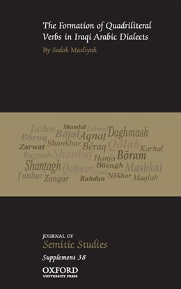 Abbildung von Masliyah   The Formation of Quadriliteral Verbs in Iraqi Arabic Dialects   2017