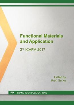 Abbildung von Xu | Functional Materials and Application | 2018 | 2nd ICAFM 2017 | Volume 759
