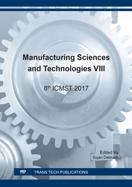Abbildung von Debnath | Manufacturing Sciences and Technologies VIII | 1. Auflage | 2018 | Volume 911 | beck-shop.de