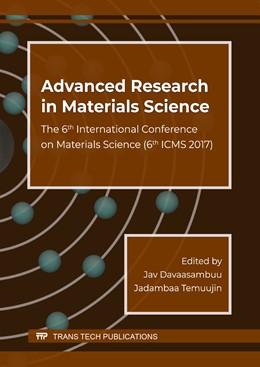 Abbildung von Davaasambuu / Temuujin | Advanced Research in Materials Science | 1. Auflage | 2018 | Volume 271 | beck-shop.de