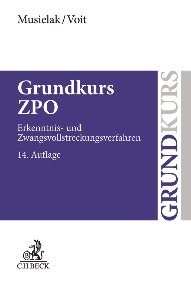 Grundkurs ZPO | Musielak / Voit | 14., neu bearbeitete Auflage, 2018 | Buch (Cover)