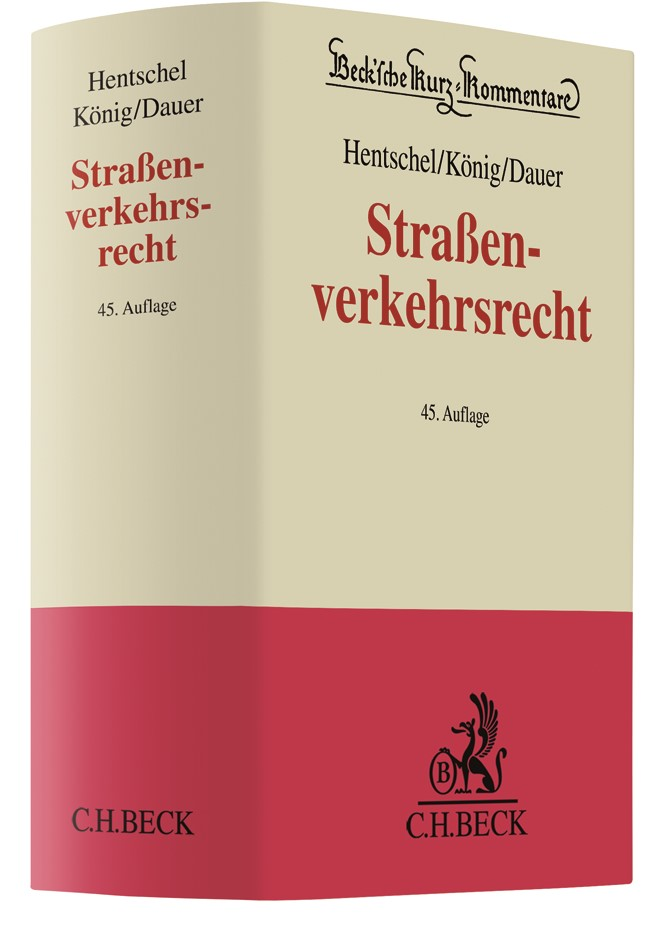 Straßenverkehrsrecht | Hentschel / König / Dauer | 45. Auflage, 2018 | Buch (Cover)