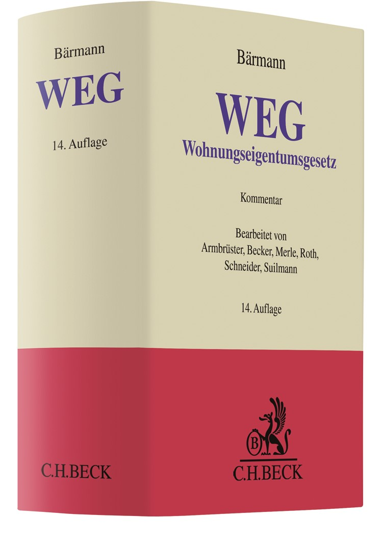 Wohnungseigentumsgesetz: WEG | Bärmann | 14. Auflage, 2018 | Buch (Cover)