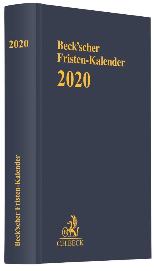 Abbildung von Beck'scher Fristen-Kalender 2020 | 2019