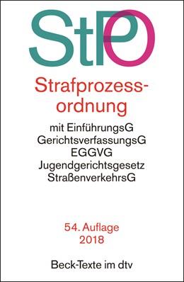Abbildung von Strafprozessordnung: StPO | 54., neu bearbeitete Auflage | 2018 | mit Auszügen aus Gerichtsverfa... | 5011
