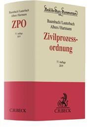 Zivilprozessordnung: ZPO | Baumbach / Lauterbach / Albers / Hartmann | 77., neu bearbeitete Auflage, 2018 | Buch (Cover)