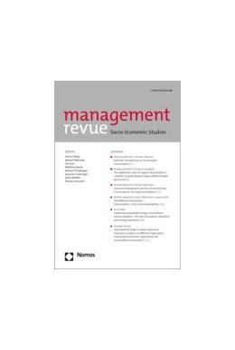 Abbildung von management revue (mrev) | 30. Jahrgang | 2019 | Socio-Economic Studies