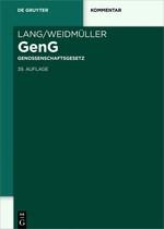 Genossenschaftsgesetz: GenG | Lang / Weidmüller | 39., neu bearbeitete Auflage, 2018 | Buch (Cover)