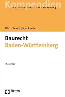 Abbildung von Dürr / Leven / Speckmaier | Baurecht Baden-Württemberg | 2018