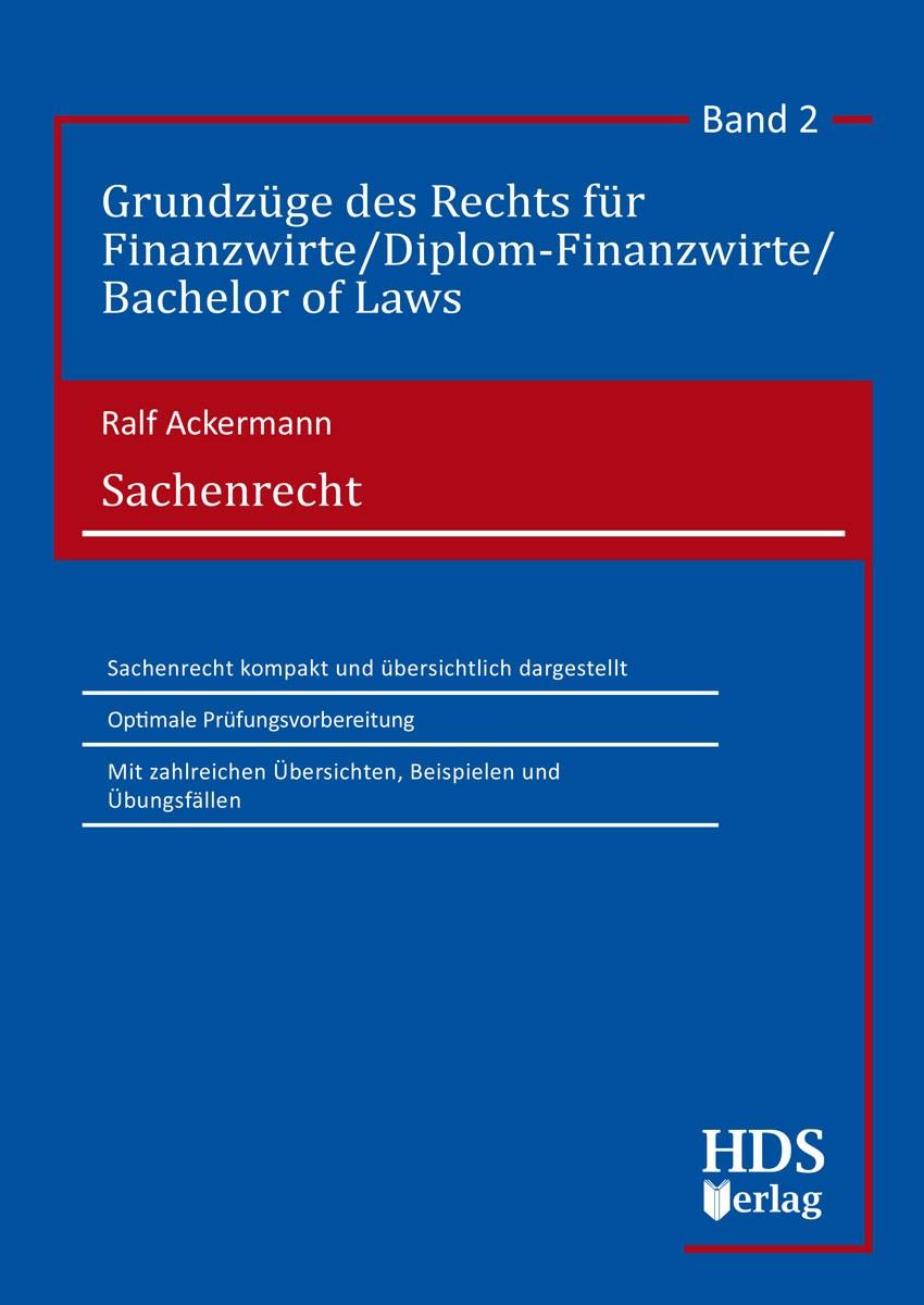 Sachenrecht | Ackermann, 2018 | Buch (Cover)