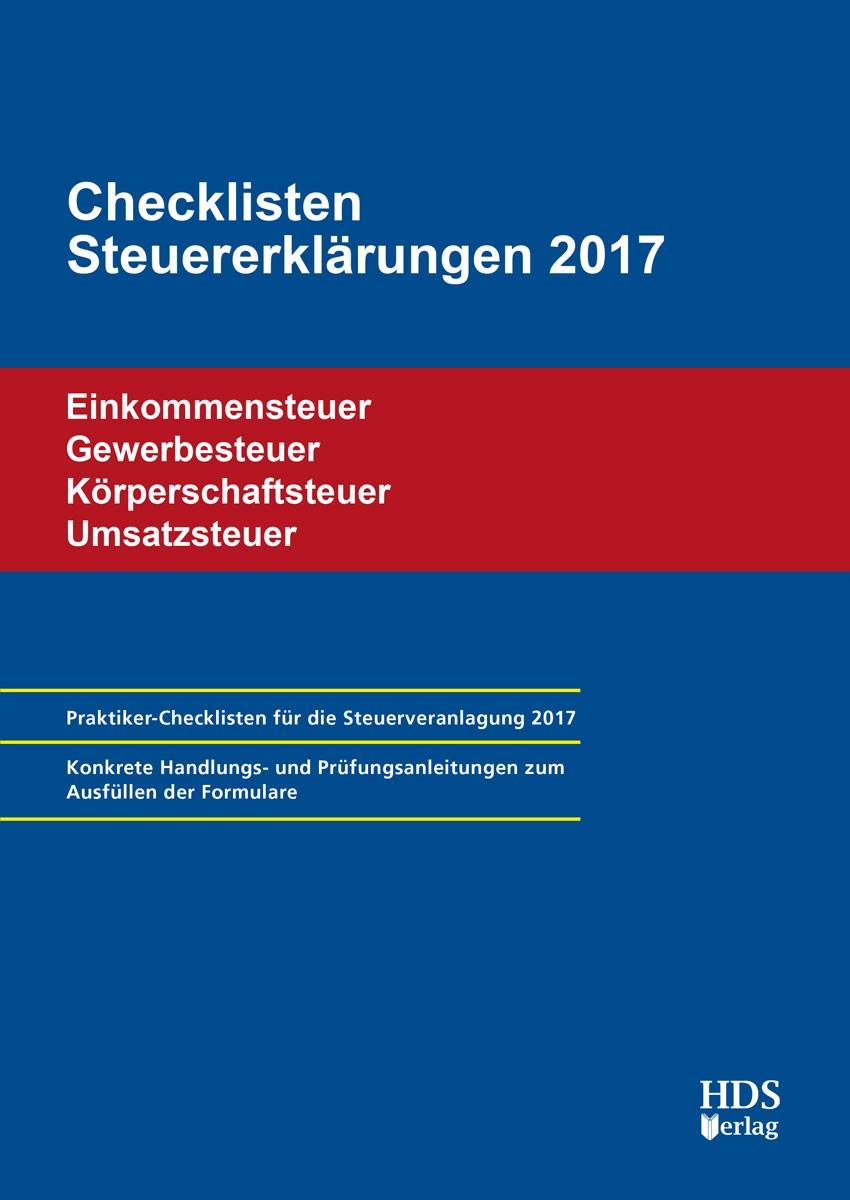 Checklisten Steuererklärungen 2017 | Arndt / Perbey / Lähn, 2018 | Buch (Cover)