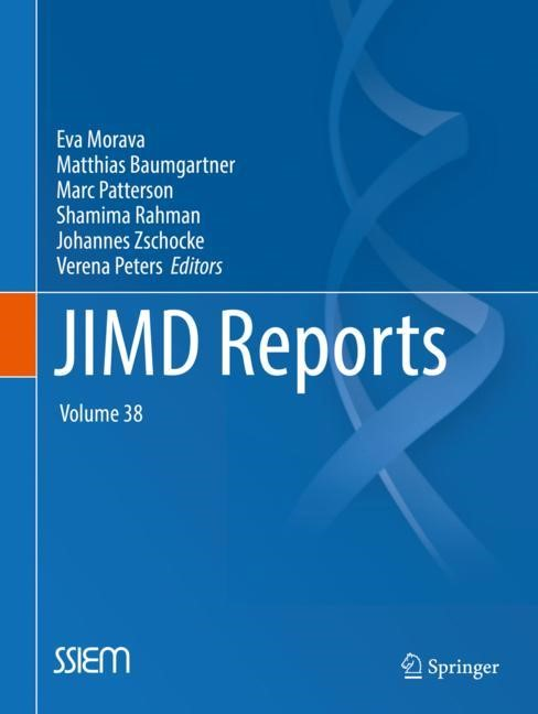 JIMD Reports, Volume 38 | Morava / Baumgartner / Patterson / Rahman / Zschocke / Peters, 2018 | Buch (Cover)
