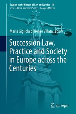 Abbildung von Di Renzo Villata | Succession Law, Practice and Society in Europe across the Centuries | 1st ed. 2018 | 2018