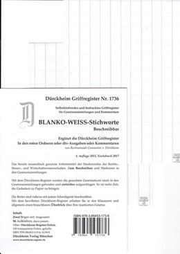 Abbildung von Dürckheim | BLANKO WEISS-GROSS Dürckheim-Griffregister Beschreibbar Nr. 1736 | 2018 | 96 weisse, beschreibbare Marki...