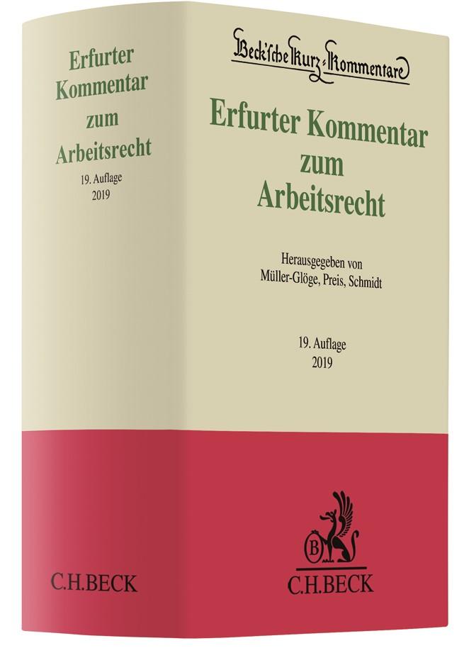 Erfurter Kommentar zum Arbeitsrecht | 19. Auflage, 2018 | Buch (Cover)