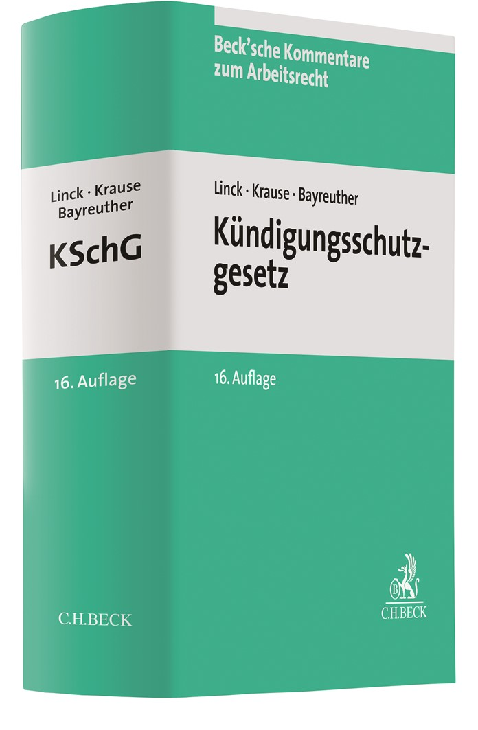 Kündigungsschutzgesetz: KSchG | v. Hoyningen-Huene / Linck / Krause | 16. Auflage, 2019 | Buch (Cover)