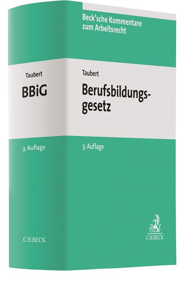 Berufsbildungsgesetz: BBiG | Taubert | 3. Auflage, 2019 | Buch (Cover)