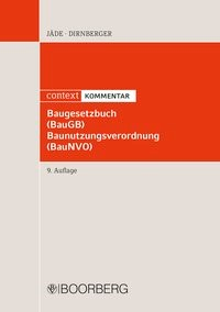 Baugesetzbuch, Baunutzungsverordnung: BauGB, BauNVO | Jäde / Dirnberger | 9., überarbeitete Auflage, 2018 | Buch (Cover)