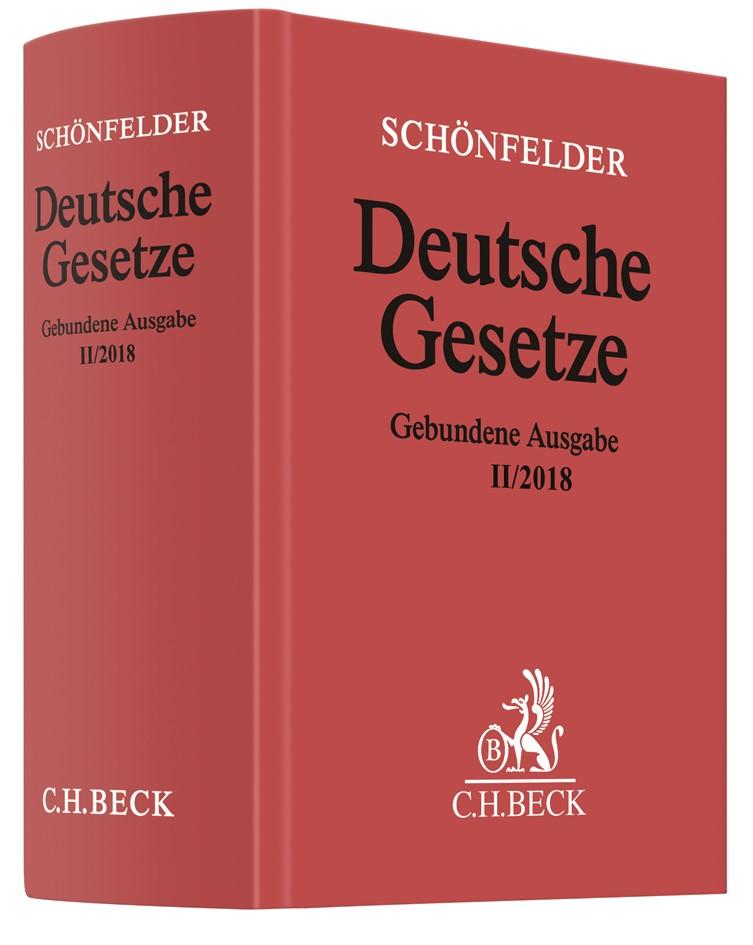 Deutsche Gesetze Gebundene Ausgabe II/2018 | Schönfelder, 2018 | Buch (Cover)