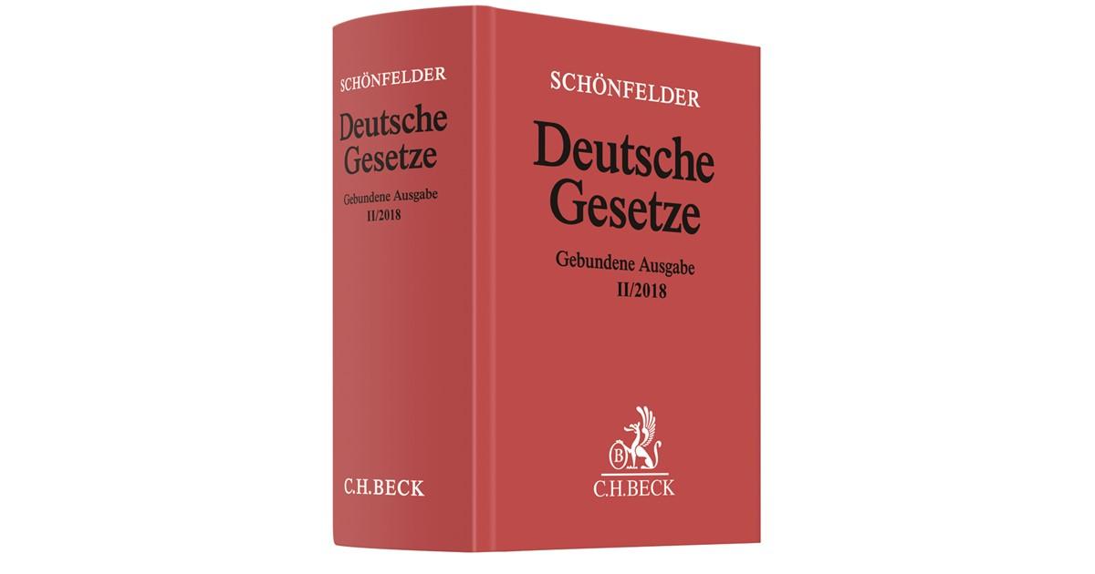 Deutsche Gesetze Gebundene Ausgabe II/2018 | Schönfelder