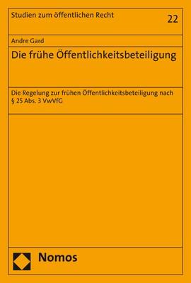 Die frühe Öffentlichkeitsbeteiligung | Gard | 1. Auflage, 2018 | Buch (Cover)