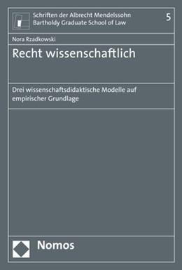 Abbildung von Rzadkowski | Recht wissenschaftlich | 1. Auflage | 2018 | Band 5 | beck-shop.de