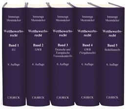 Abbildung von Immenga / Mestmäcker | Wettbewerbsrecht | 6. Auflage | Gesamtwerk. In 5 Bänden