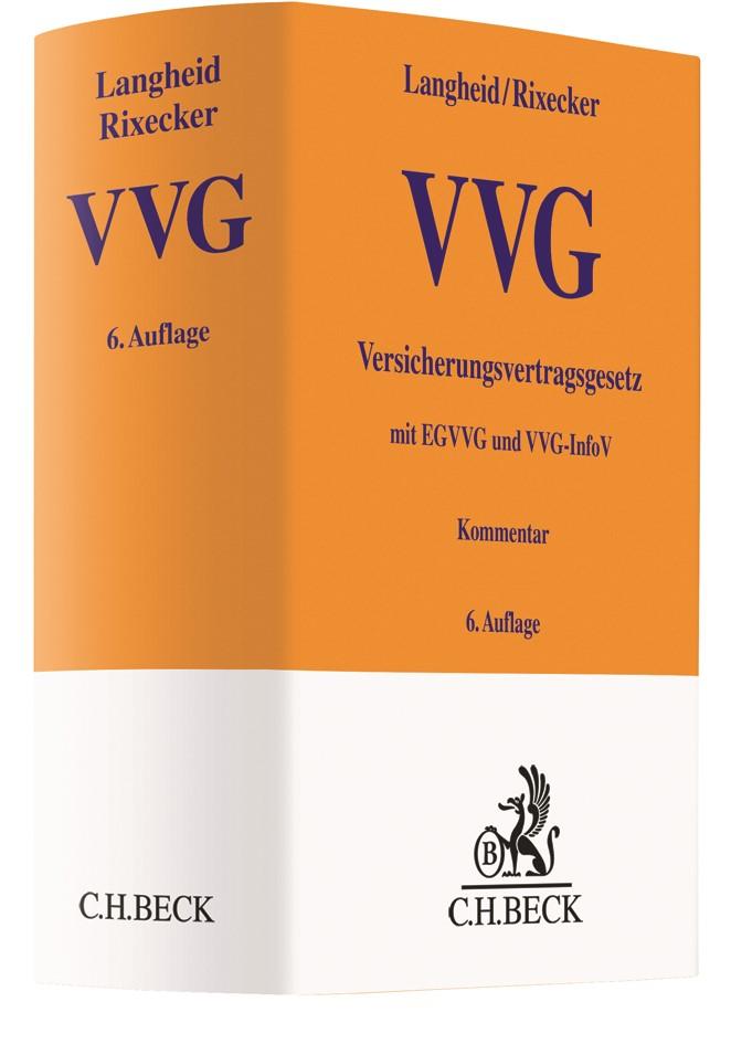 Versicherungsvertragsgesetz: VVG | Langheid / Rixecker | 6. Auflage, 2018 | Buch (Cover)