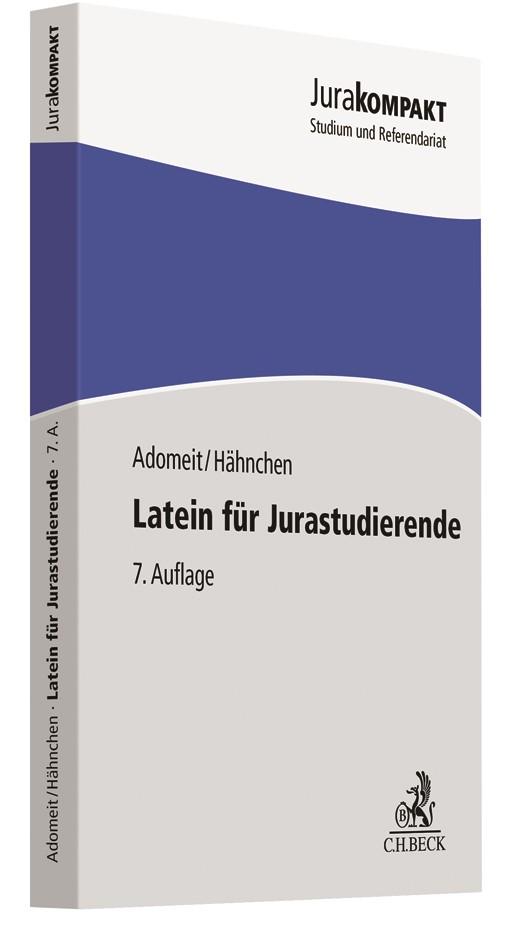 Latein für Jurastudierende | Adomeit / Hähnchen | 7. Auflage, 2018 | Buch (Cover)