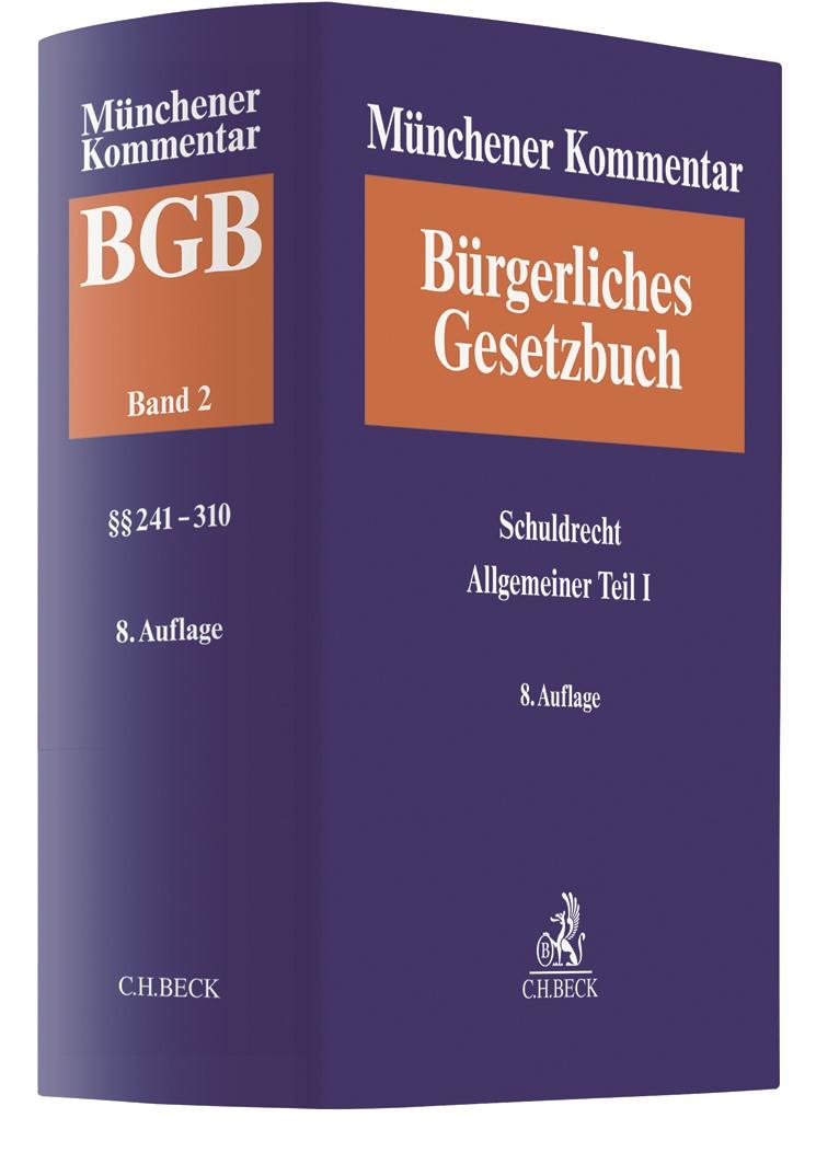 Münchener Kommentar zum Bürgerlichen Gesetzbuch: BGB, Band 2: Schuldrecht Allgemeiner Teil I (§§ 241-310) | 8. Auflage, 2018 | Buch (Cover)