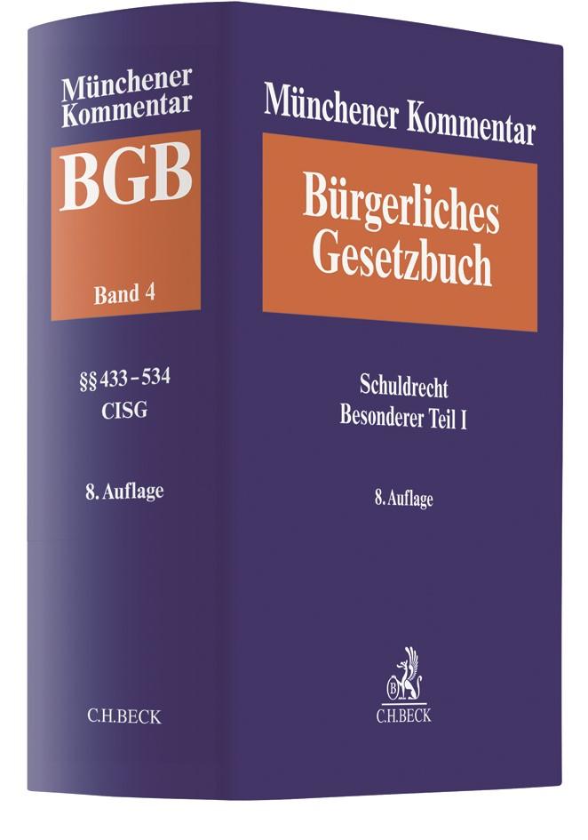 Münchener Kommentar zum Bürgerlichen Gesetzbuch: BGB, Band 4: Schuldrecht, Besonderer Teil I §§ 433-534, Finanzierungsleasing, CISG | 8. Auflage, 2019 | Buch (Cover)
