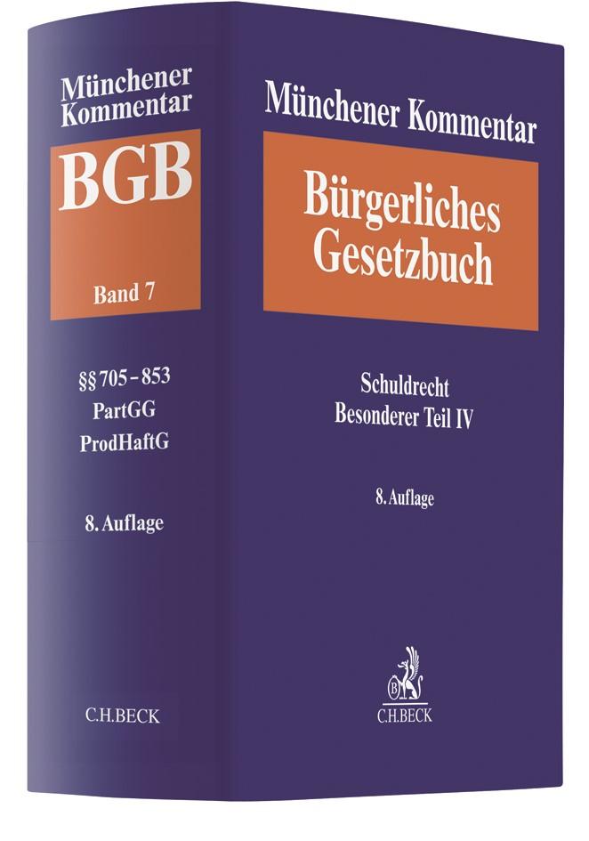 Münchener Kommentar zum Bürgerlichen Gesetzbuch: BGB, Band 7: Schuldrecht Besonderer Teil IV | 8. Auflage, 2019 | Buch (Cover)