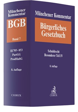 Abbildung von Münchener Kommentar zum Bürgerlichen Gesetzbuch: BGB, Band 7: Schuldrecht Besonderer Teil IV | 8. Auflage | 2020 | beck-shop.de