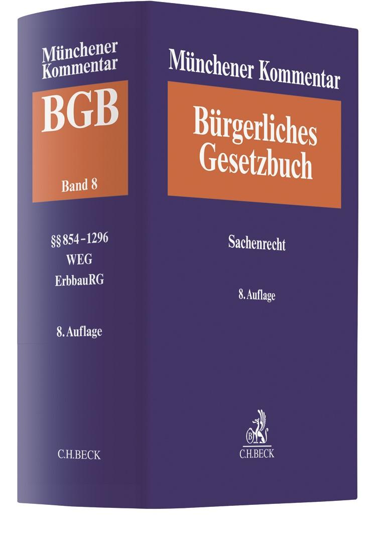 Münchener Kommentar zum Bürgerlichen Gesetzbuch: BGB, Band 8: Sachenrecht | 8. Auflage, 2019 | Buch (Cover)