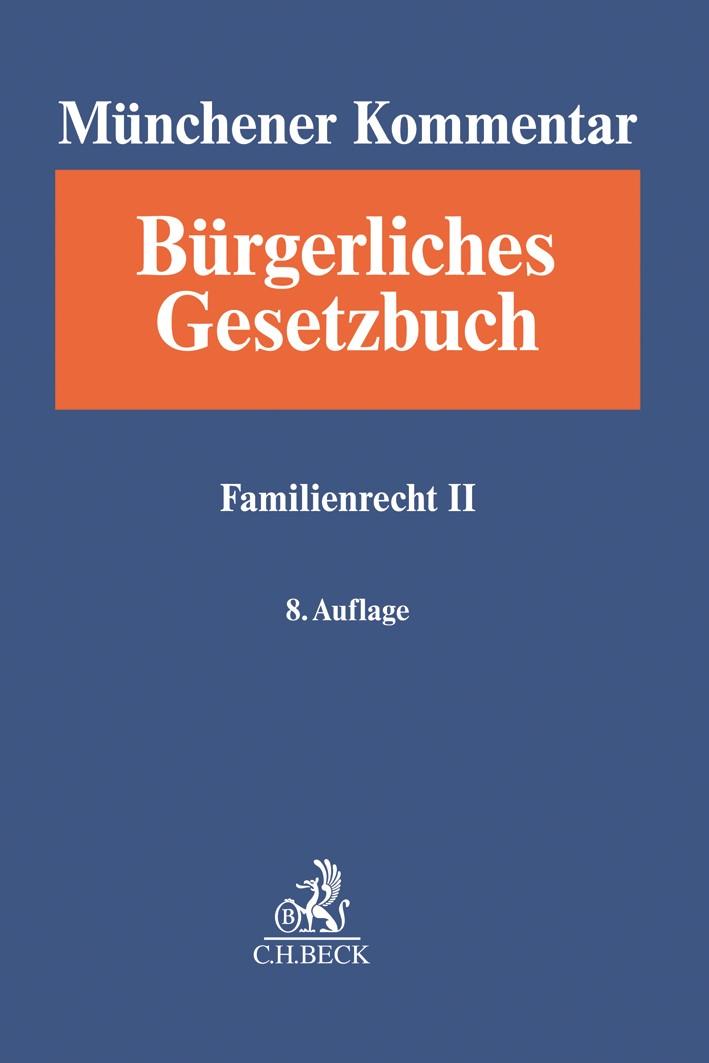 Münchener Kommentar zum Bürgerlichen Gesetzbuch: BGB, Band 10: Familienrecht II, §§ 1589-1921, SGB VIII | 8. Auflage, 2019 | Buch (Cover)