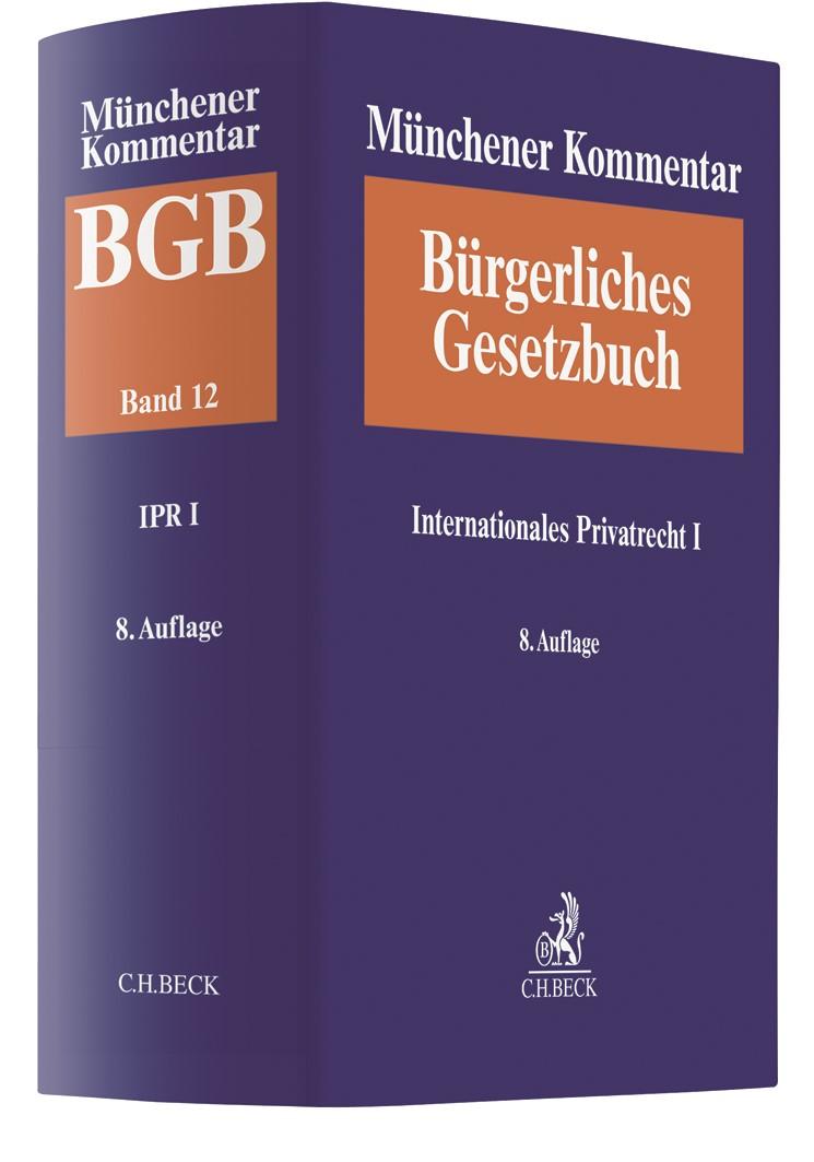 Münchener Kommentar zum Bürgerlichen Gesetzbuch: BGB, Band 12: Internationales Privatrecht I | 8. Auflage, 2020 | Buch (Cover)