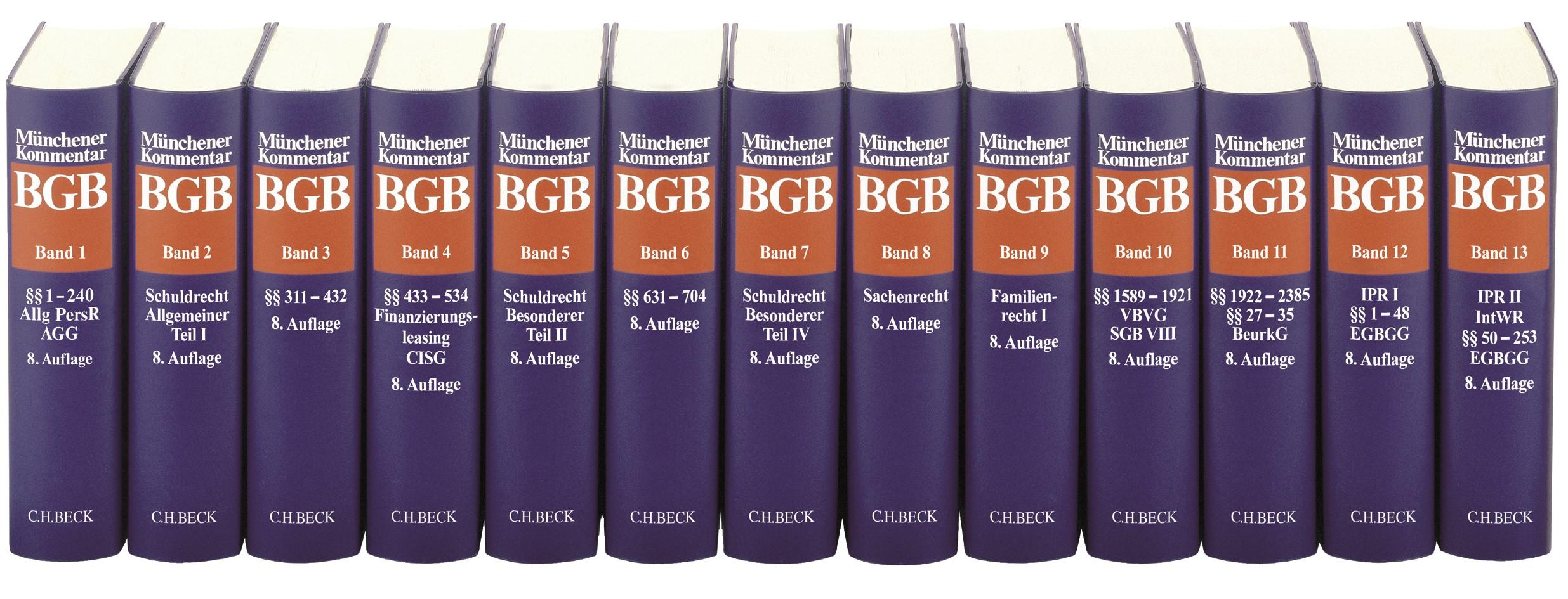 Abbildung von Münchener Kommentar zum Bürgerlichen Gesetzbuch: BGB | 8. Auflage