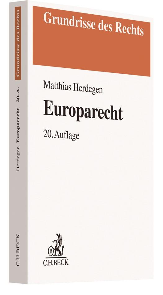 Europarecht | Herdegen | 20., überarbeitete und erweiterte Auflage, 2018 | Buch (Cover)