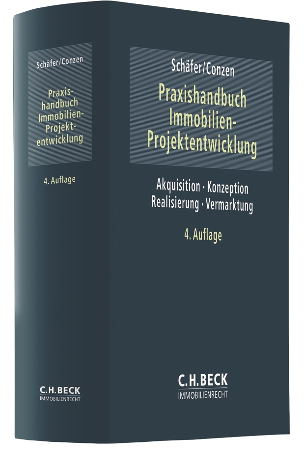 Praxishandbuch der Immobilien-Projektentwicklung | Schäfer / Conzen | 4. Auflage, 2019 | Buch (Cover)