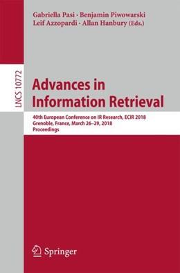 Abbildung von Pasi / Piwowarski | Advances in Information Retrieval | 1. Auflage | 2018 | beck-shop.de