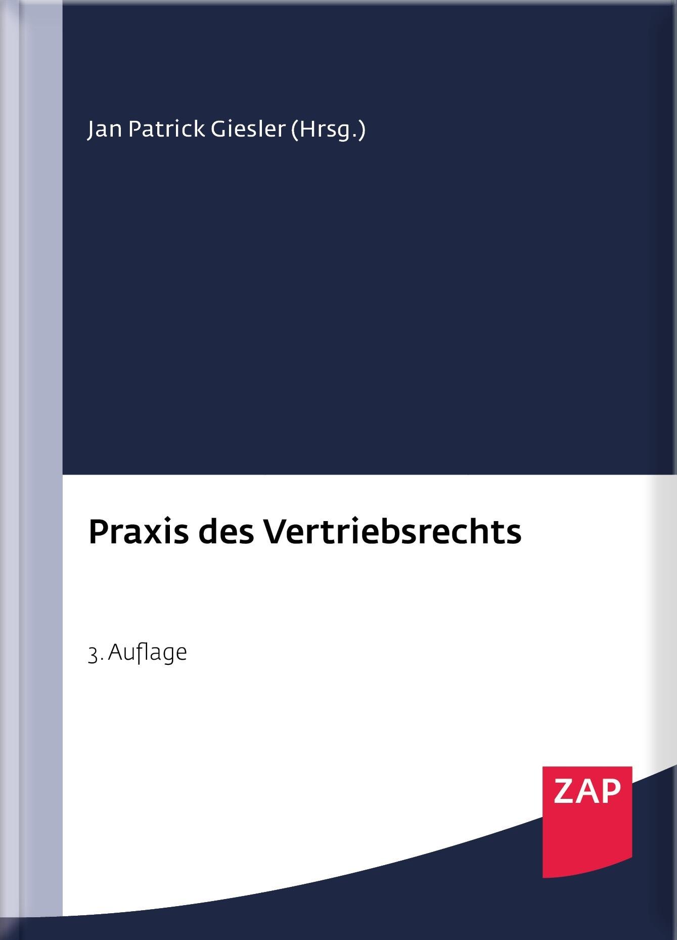 Praxis des Vertriebsrechts | Giesler (Hrsg.) | 3. Auflage, 2018 | Buch (Cover)