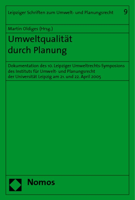 Umweltqualität durch Planung | Oldiges, 2006 | Buch (Cover)