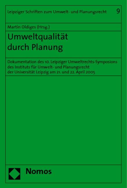 Abbildung von Oldiges | Umweltqualität durch Planung | 2006